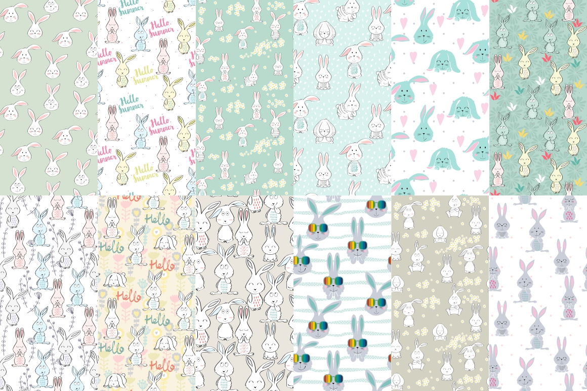 Childrens seamless patterns example image 4