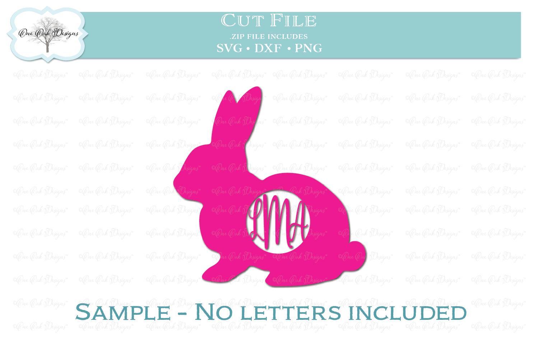 Easter Bunny Monogram Frame example image 2