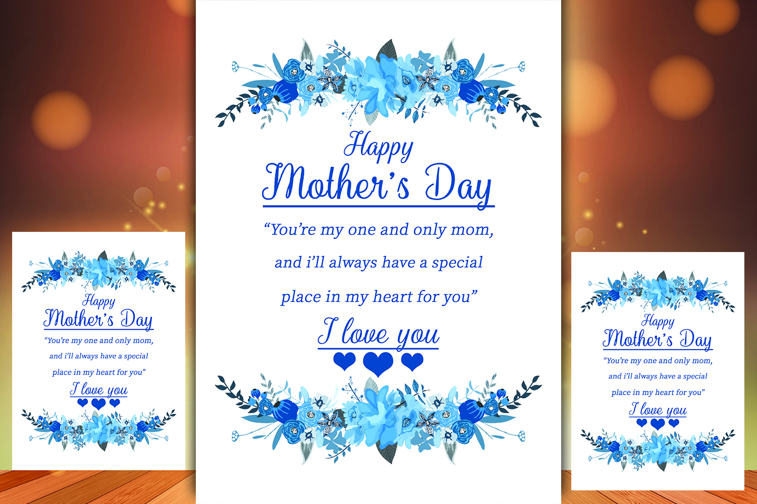 Floral Mother's day Greeting Card example image 1