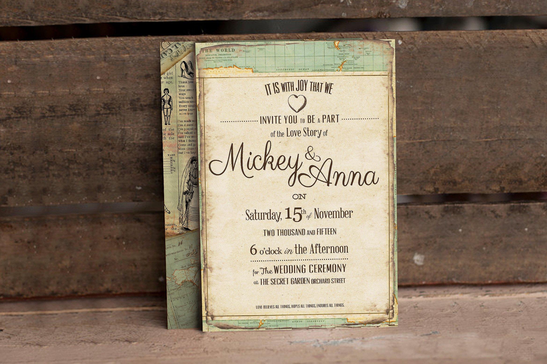 Vintage Journey Wedding Invitation example image 2