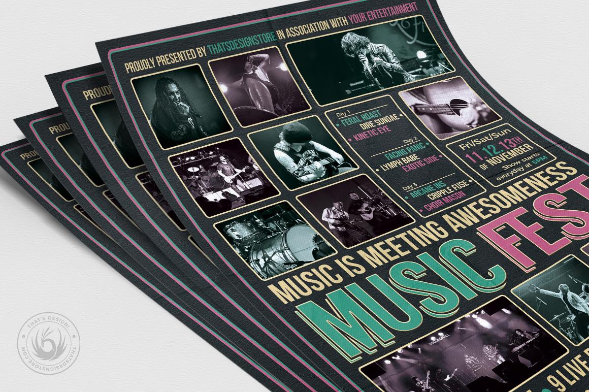 Music Festival Flyer Template V8 example image 5