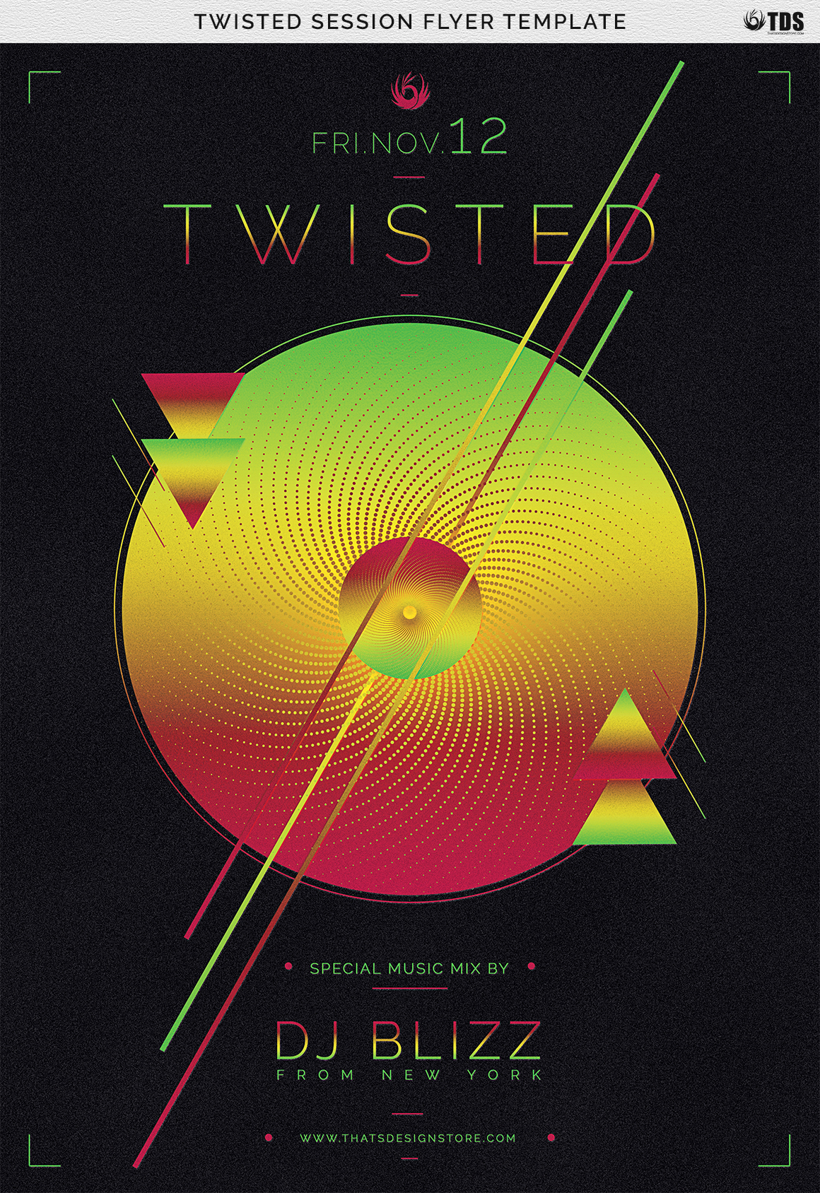 Twisted Session Flyer Template example image 11