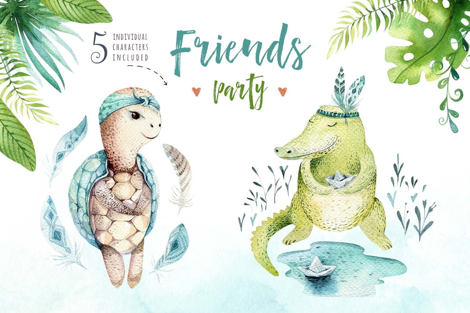 Friends party. Tropical collection example image 8