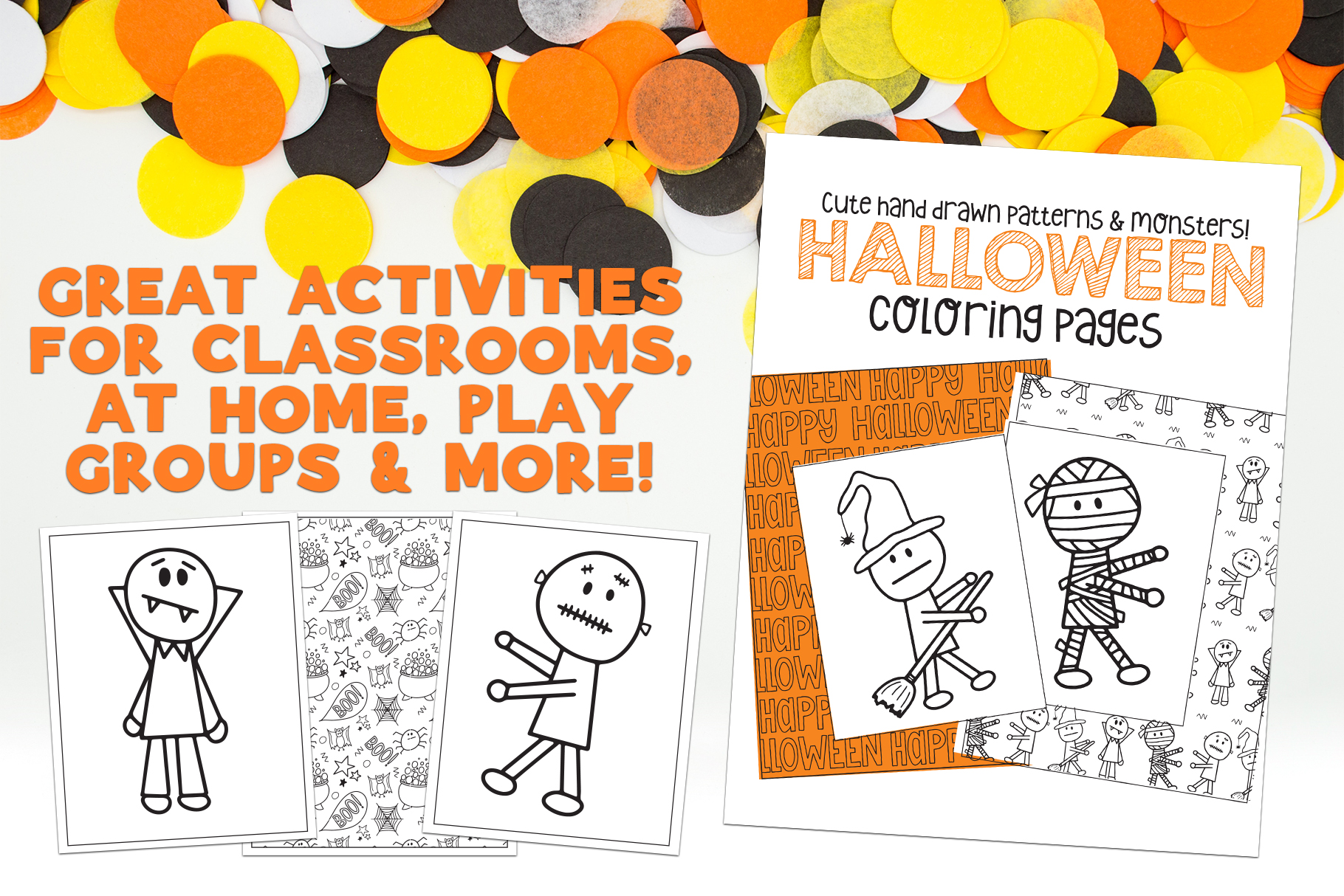 Halloween Coloring Pages & Activity example image 2