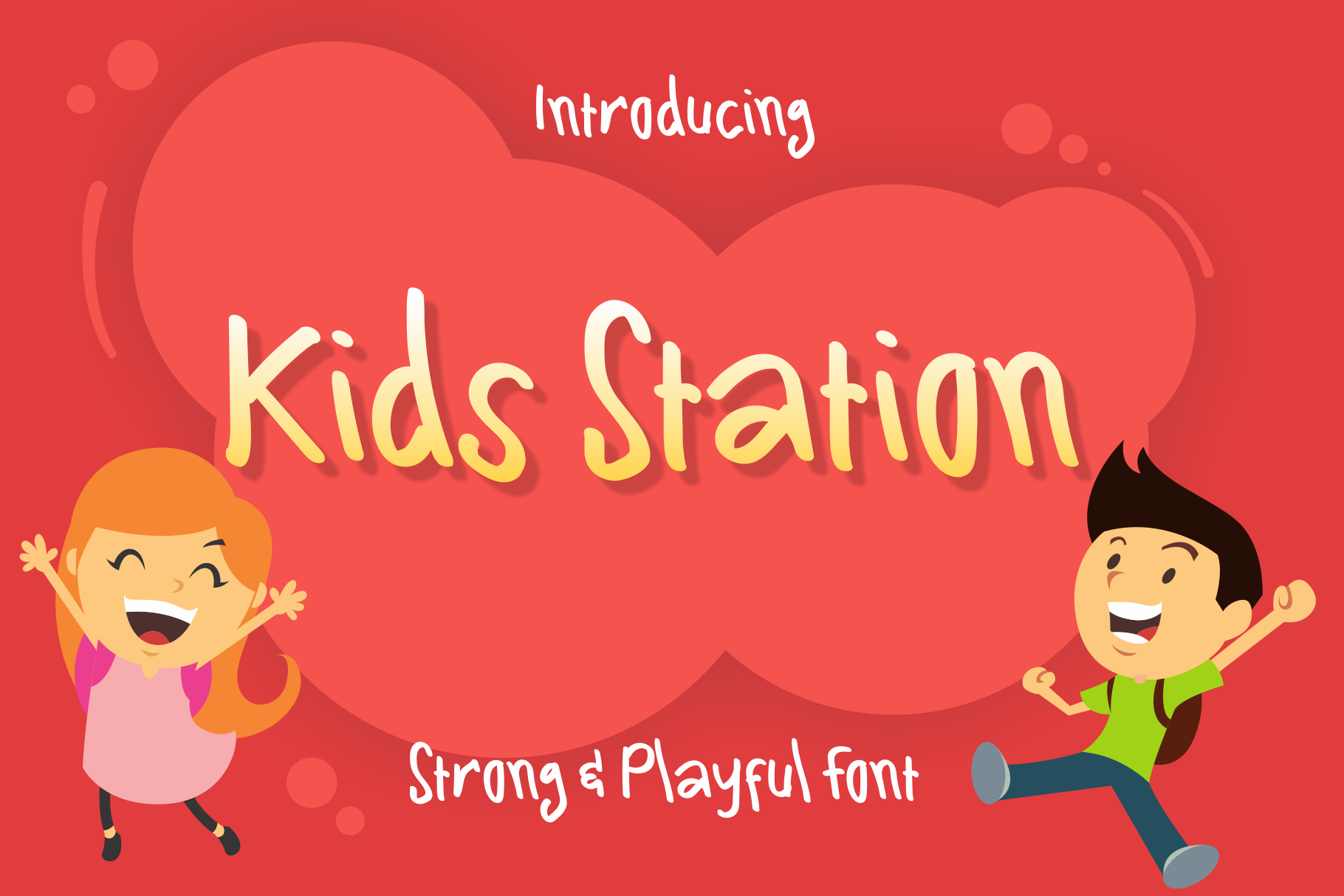 Kids Station Cute Font example image 1