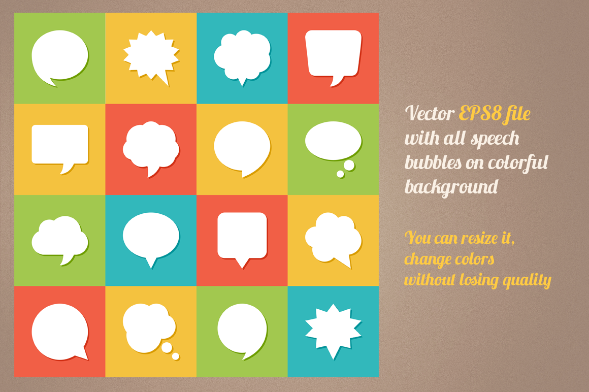 Speech Bubbles Icons example image 2