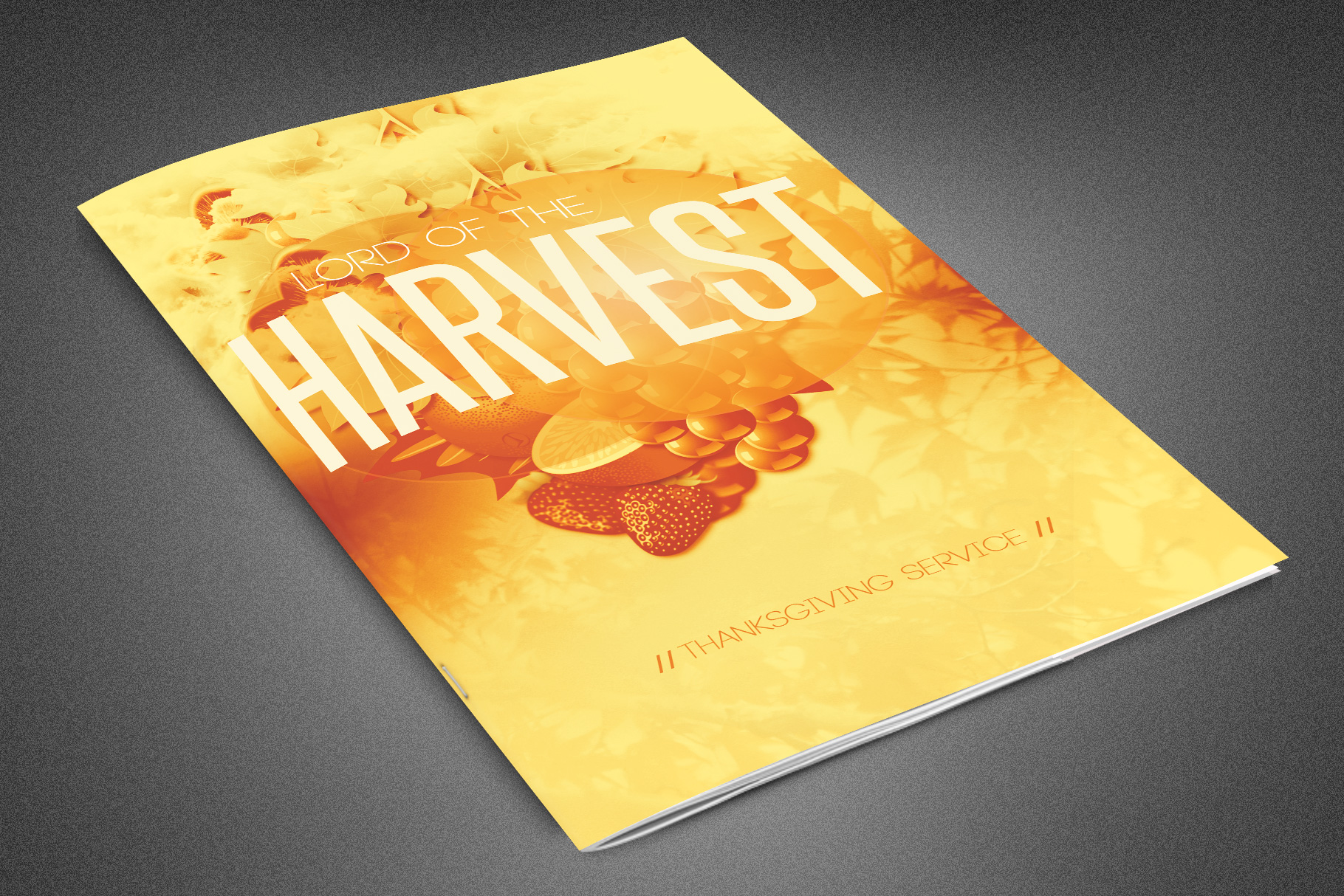 Lord of the Harvest Church Bulletin example image 1