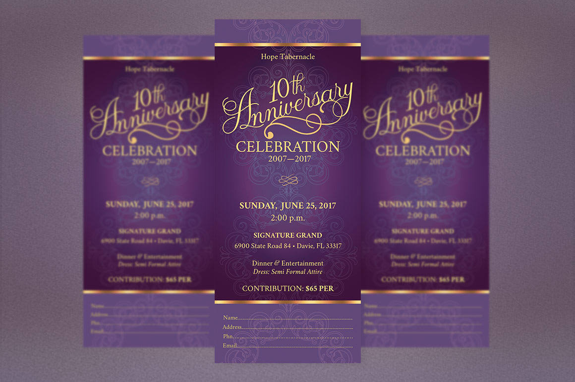 Church Anniversary Publisher Word Ticket Bundle example image 9