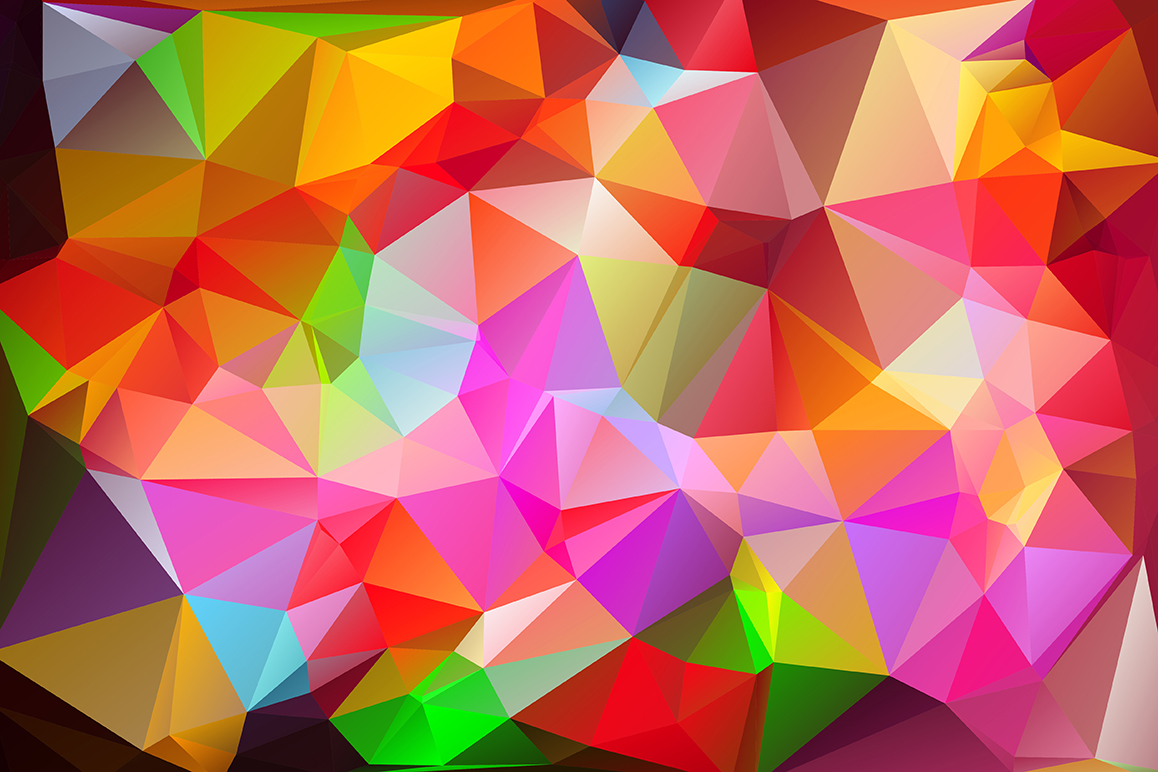 Polygon vector backgrounds set example image 9