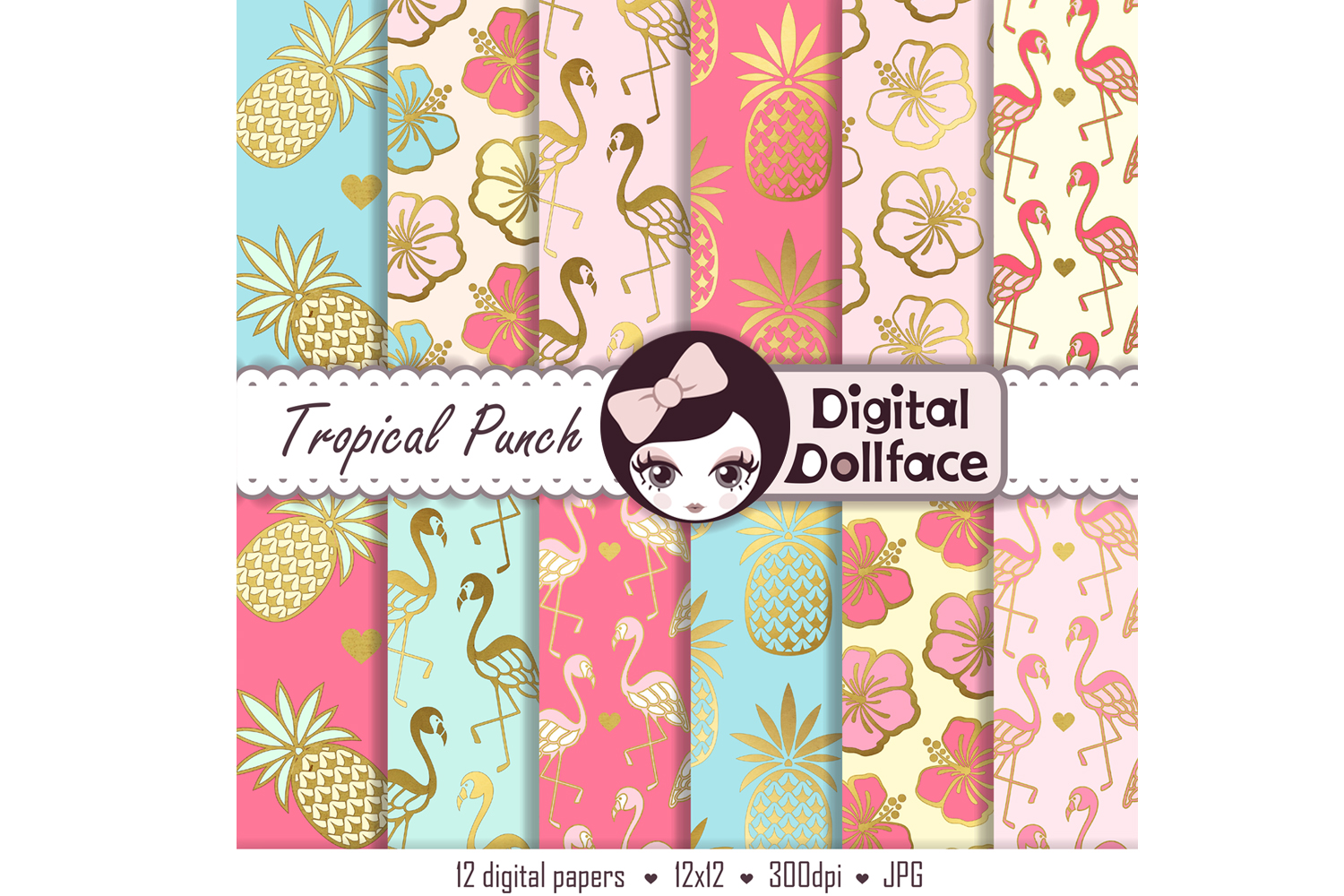 Tropical Punch Digital Paper example image 2