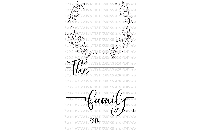 Monogram Wreath Family Last Name Farmhouse Sign SVG example image 3