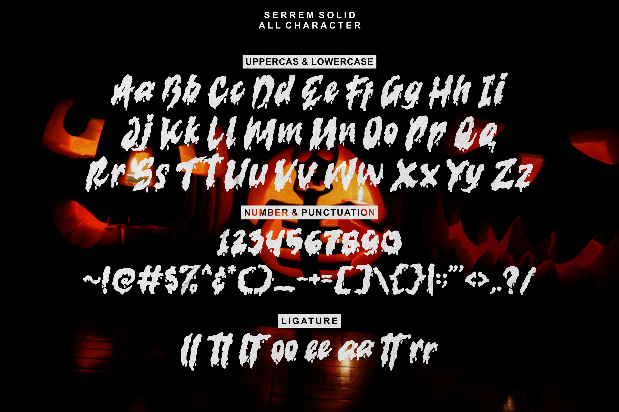 serrem - a spooky two style font example image 6