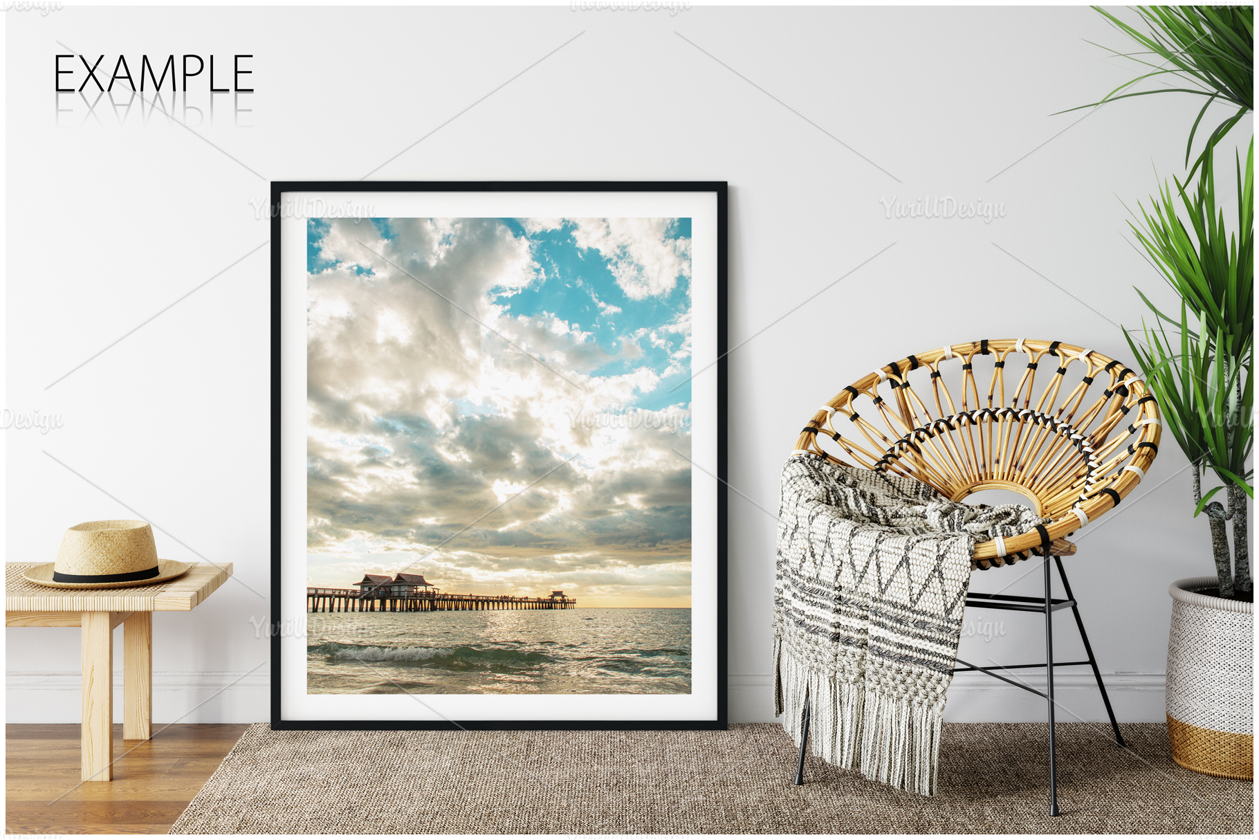 Frames & Walls Coastal Mockups Bundle example image 18