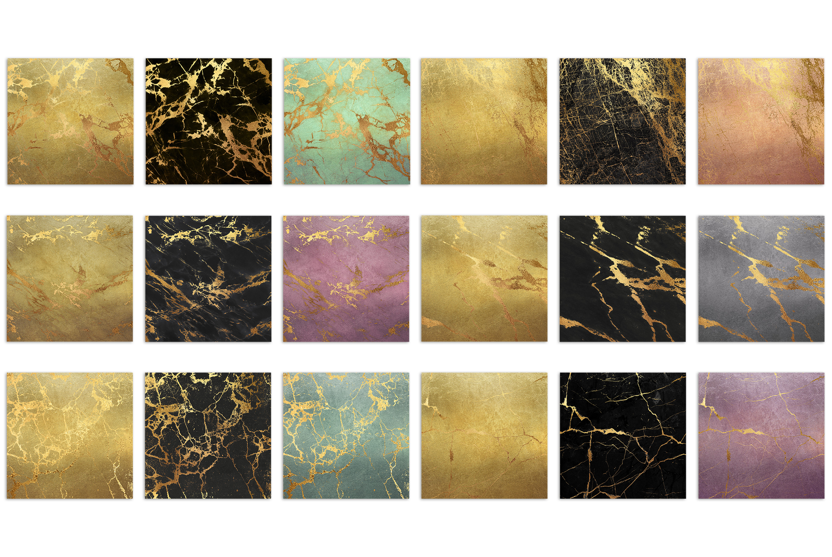 Gold Marble Digital Paper example image 3
