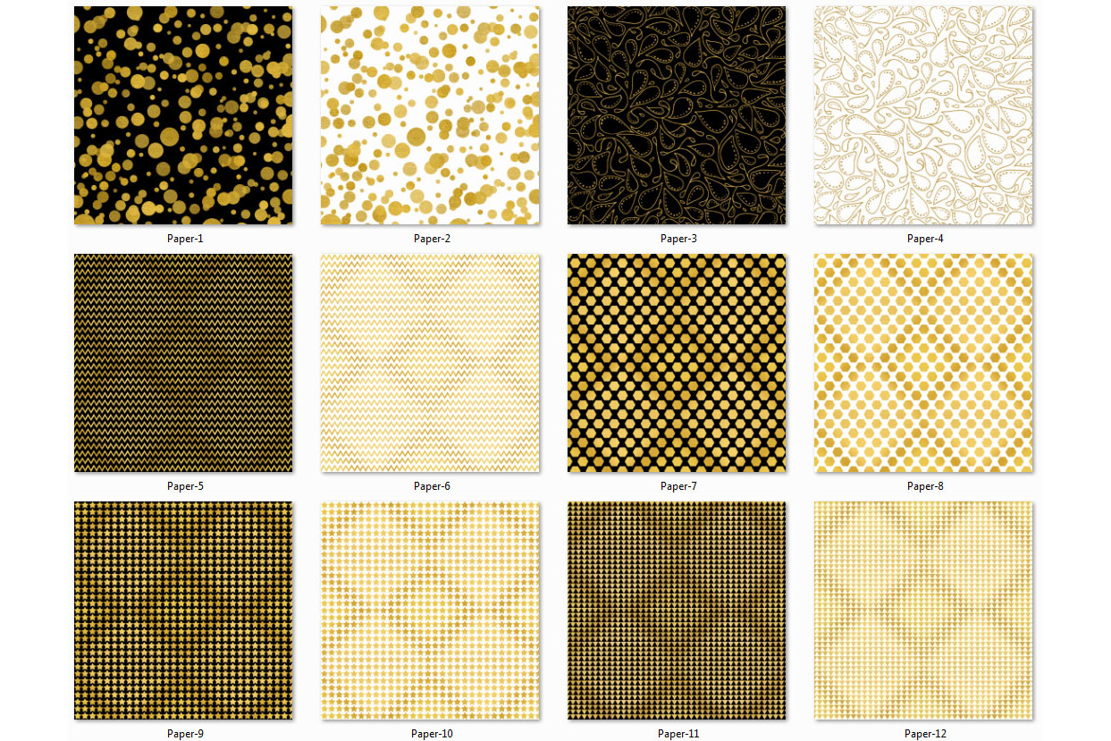 Golden Paper Collection - Paper 5 example image 2