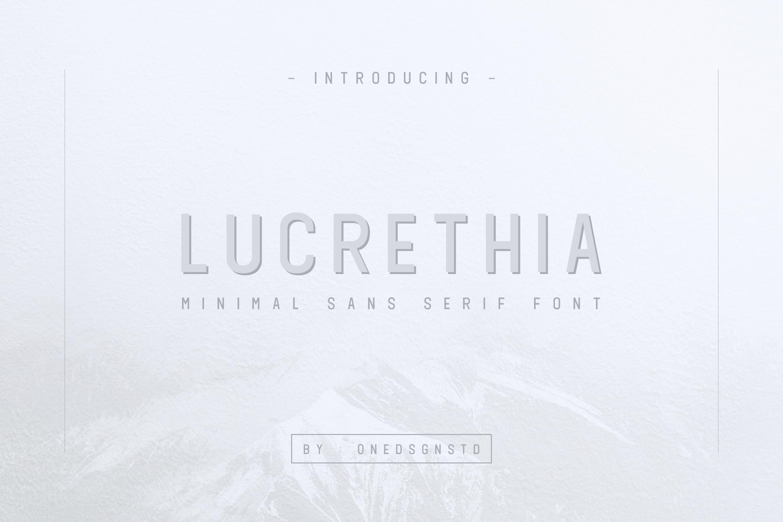 LUCRETHIA - Minimal Sans Serif Font example image 7
