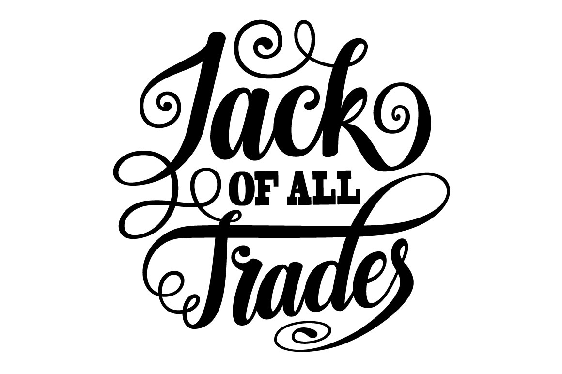 Jack of All Trades Lettering SVG example image 3
