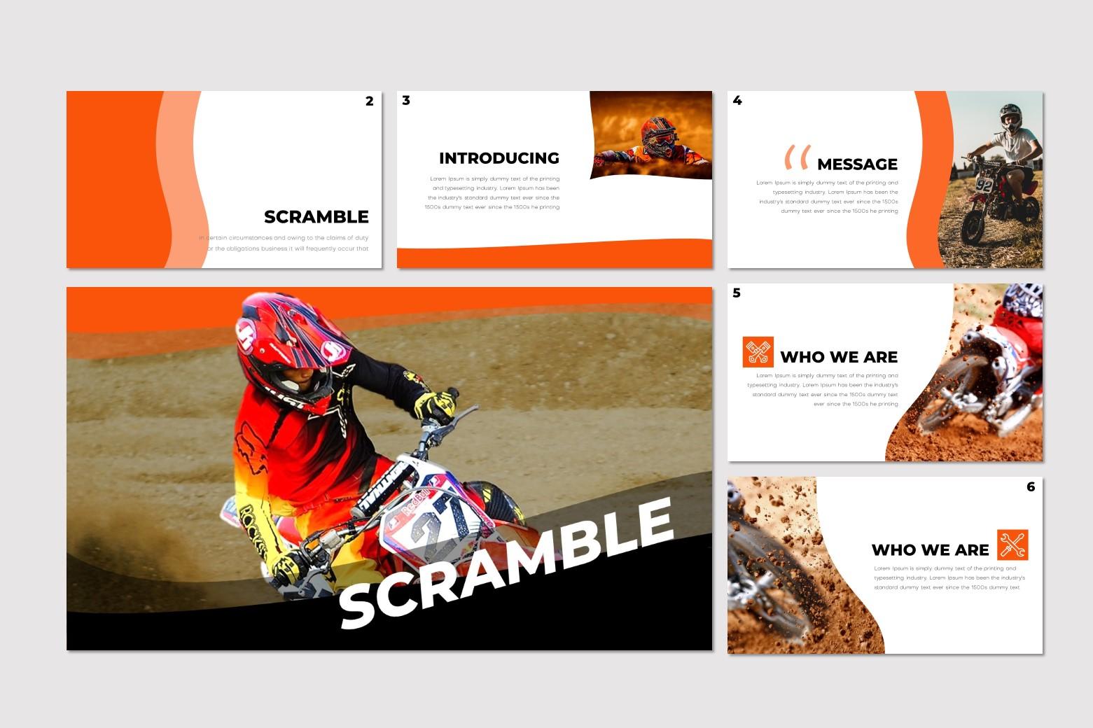 Scramble - Google Slides Template example image 2