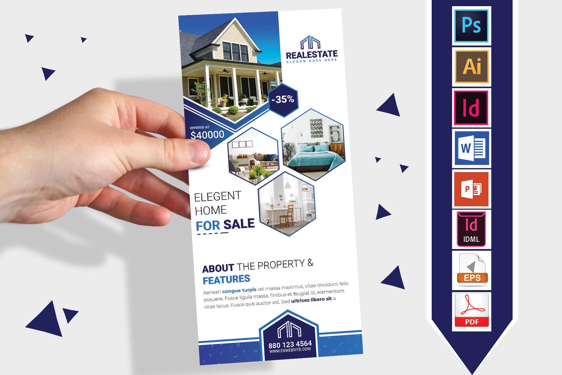 Rack Card   Real Estate DL Flyer Vol-01 example image 1