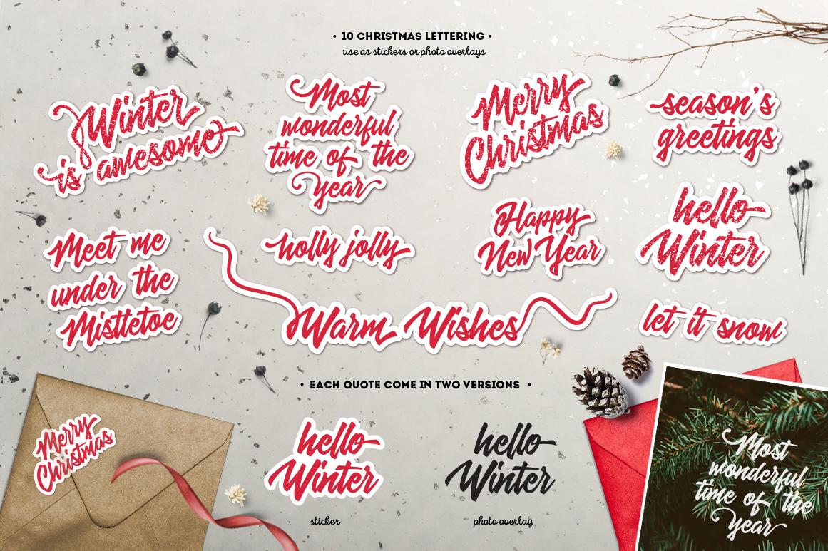 Inky Christmas Huge DIY Set example image 7