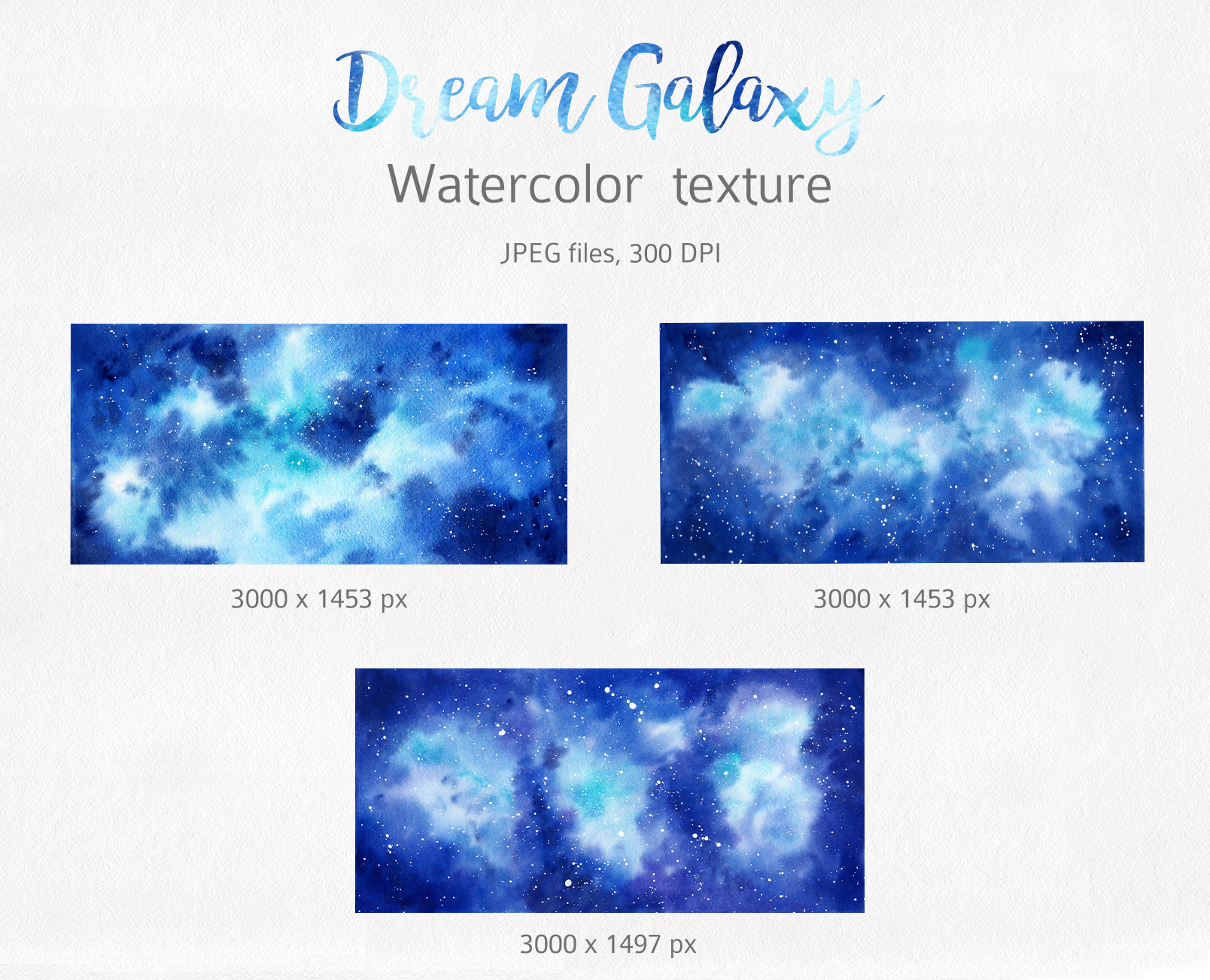 Galaxy Watercolor Collection example image 3