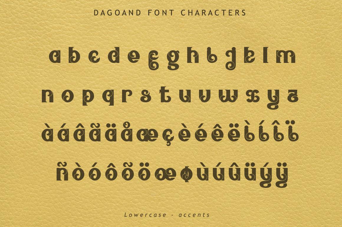 Dagoand Font example image 6