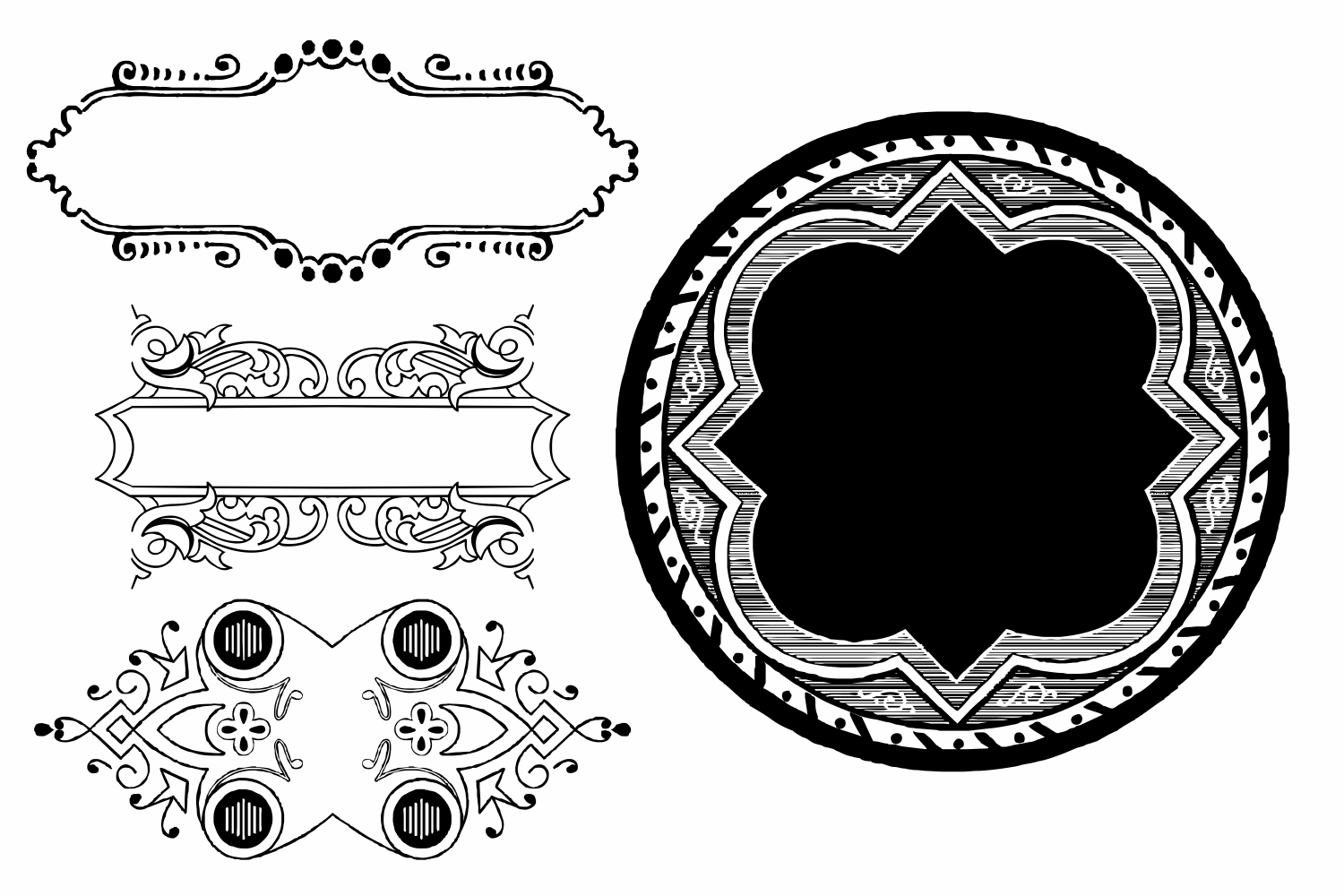 Naive Ornaments Family Pack (seven fonts) example image 7