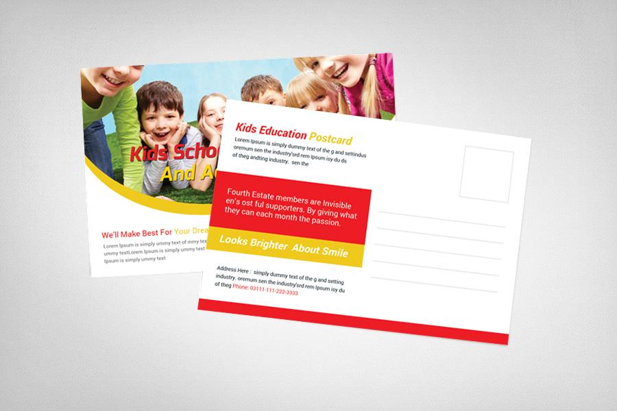 Kids School Education Postcard example image 2