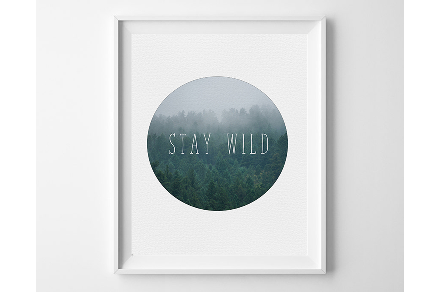 Boy Room Wall Art, Stay Wild Print, Baby Boy Wall Art example image 1