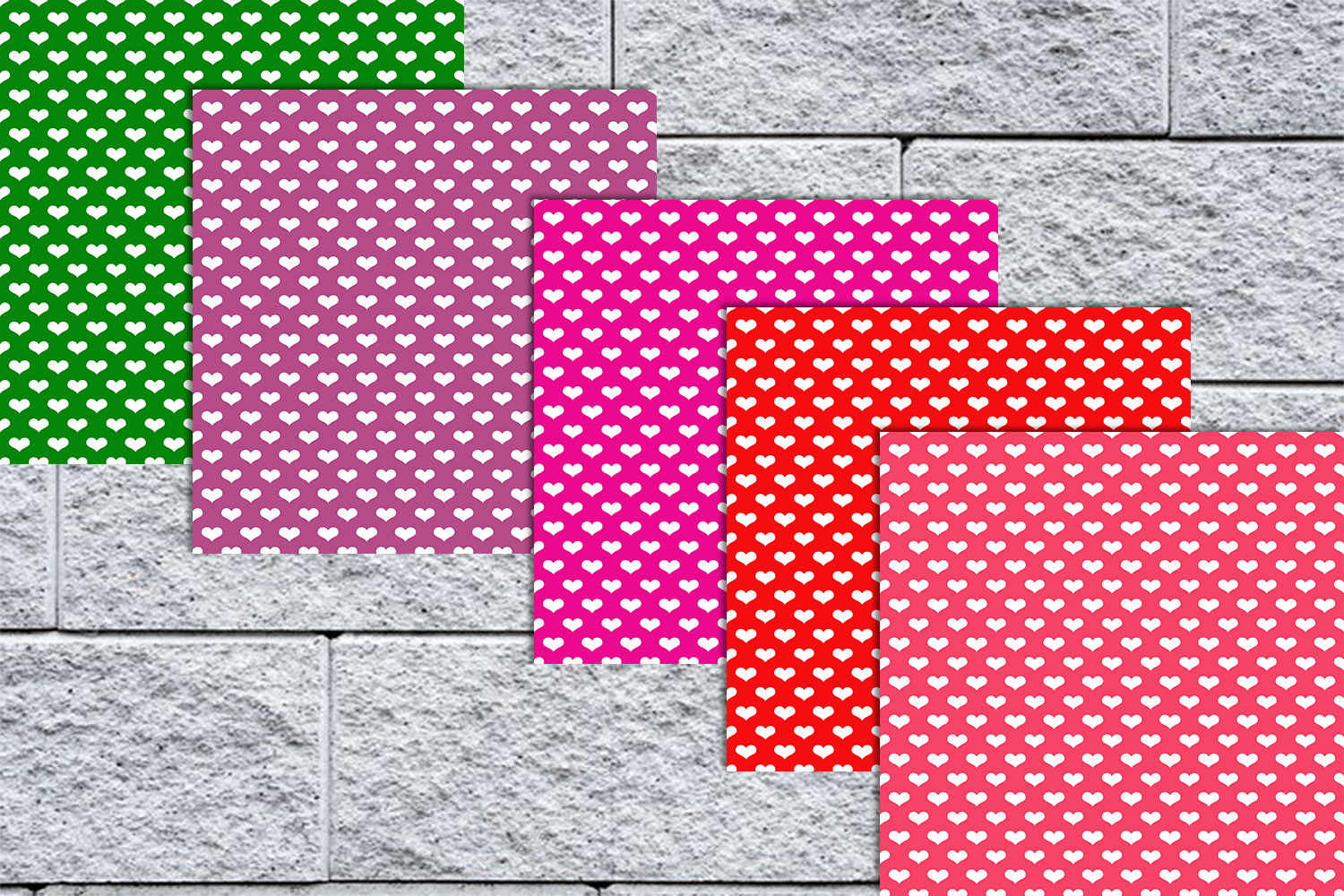 20 Color Heart Papers,Heart Background,Heart Wallpaper, SALE example image 3