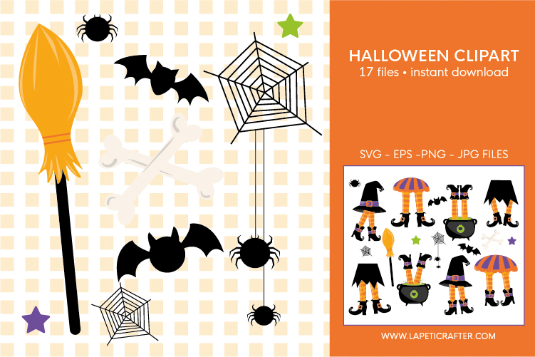Halloween witch legs clipart, wicked witch party decorations example image 2