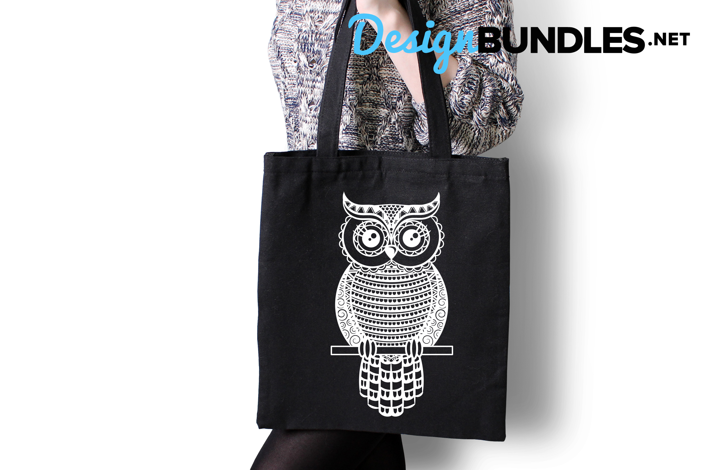 Owl paper cut design example image 4
