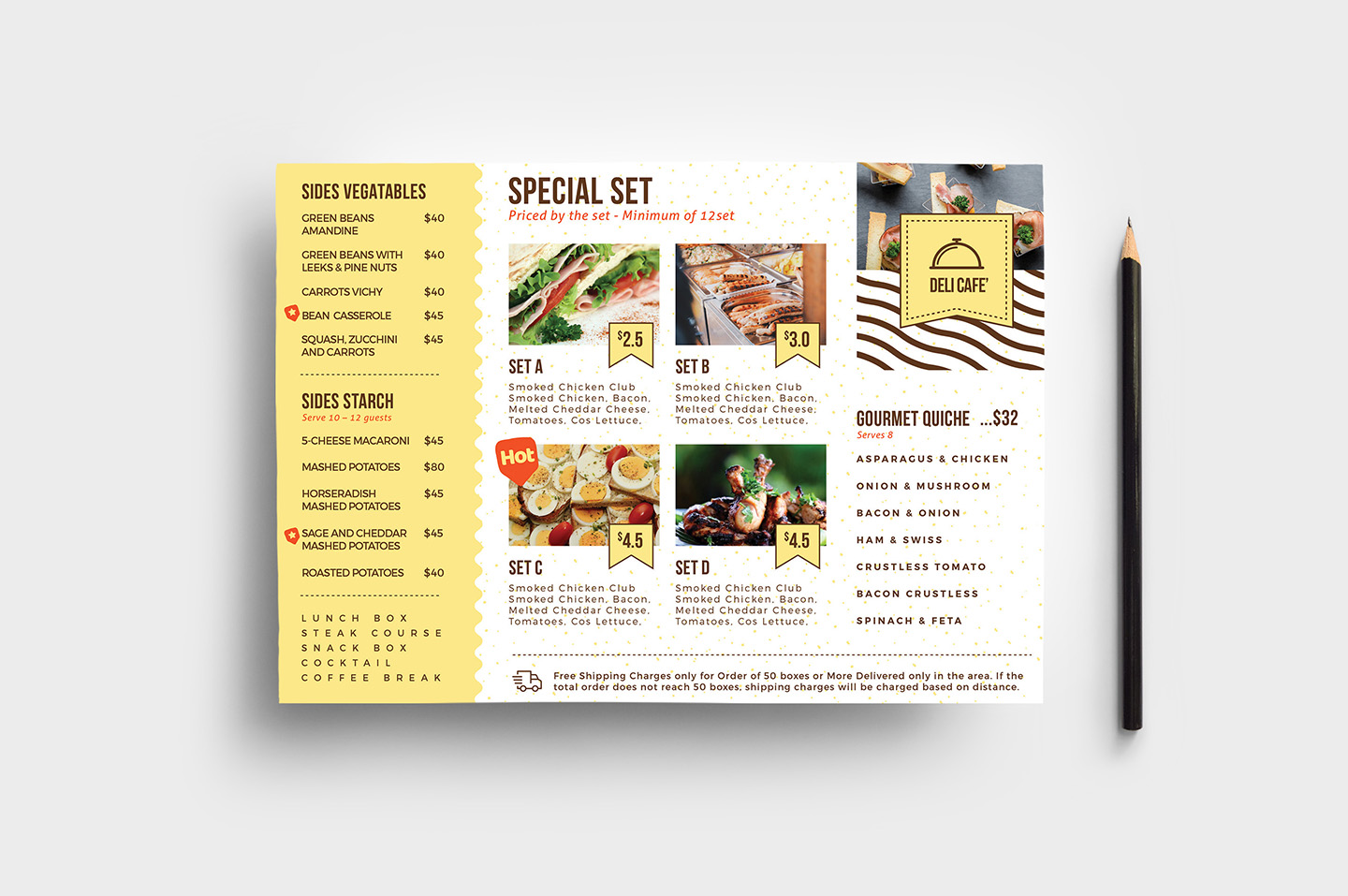 Catering Service Flyer Template v2 example image 1