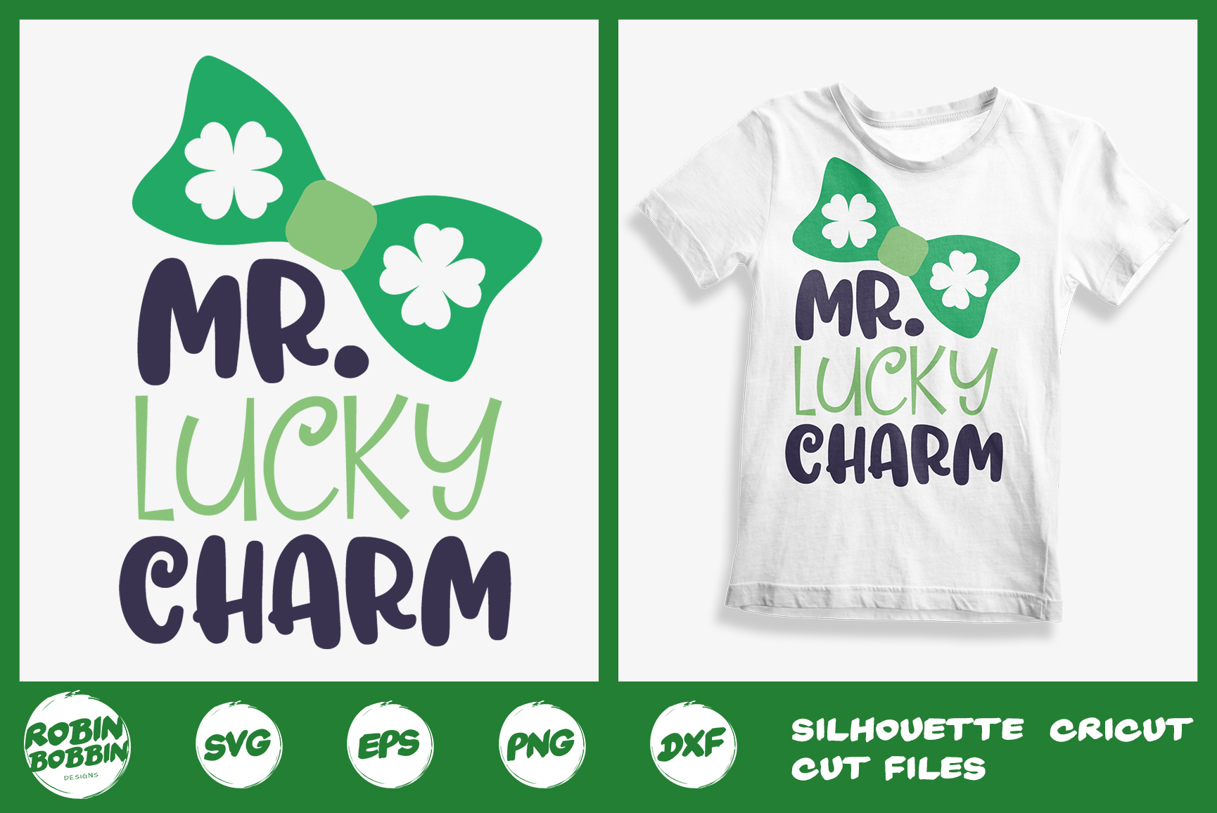 St. Patricks Day SVG, Mr. Lucky Charm SVG, Crafters SVG example image 1