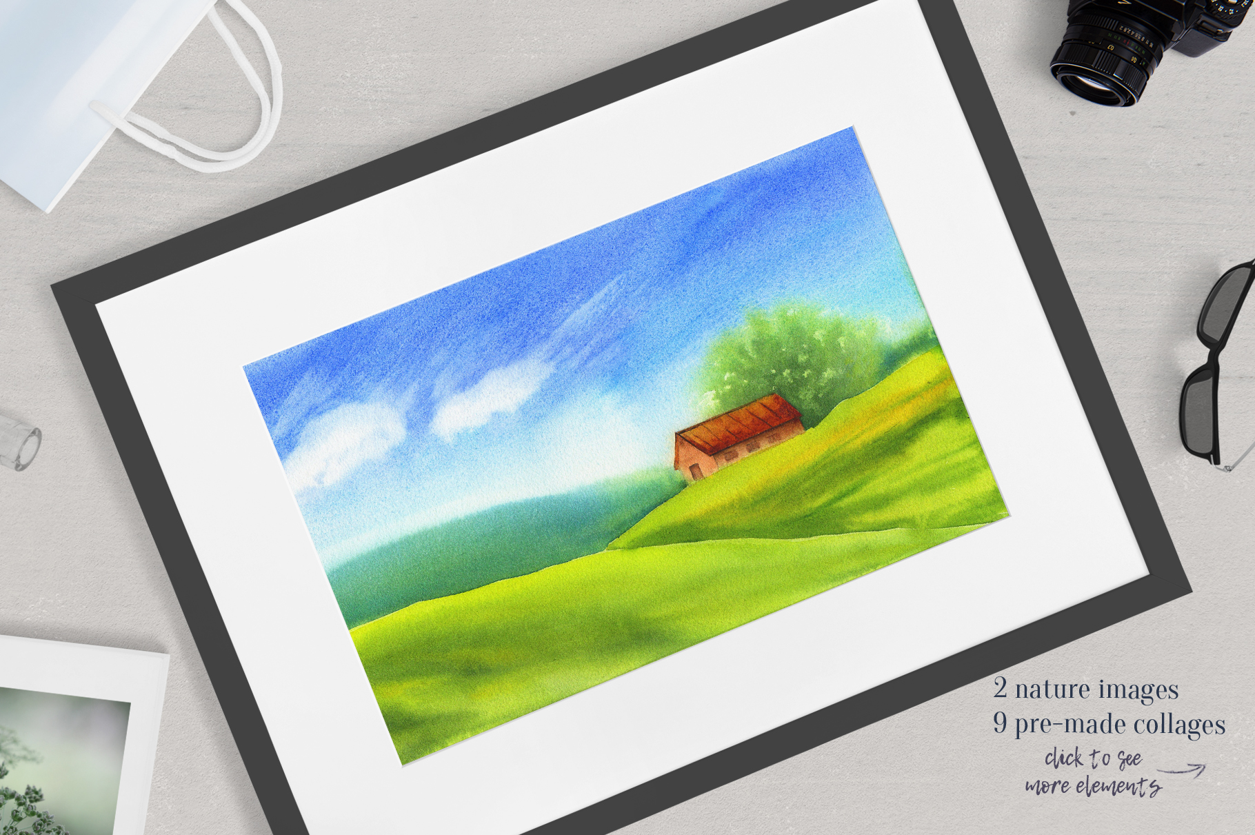 Farm animals watercolor collection example image 13