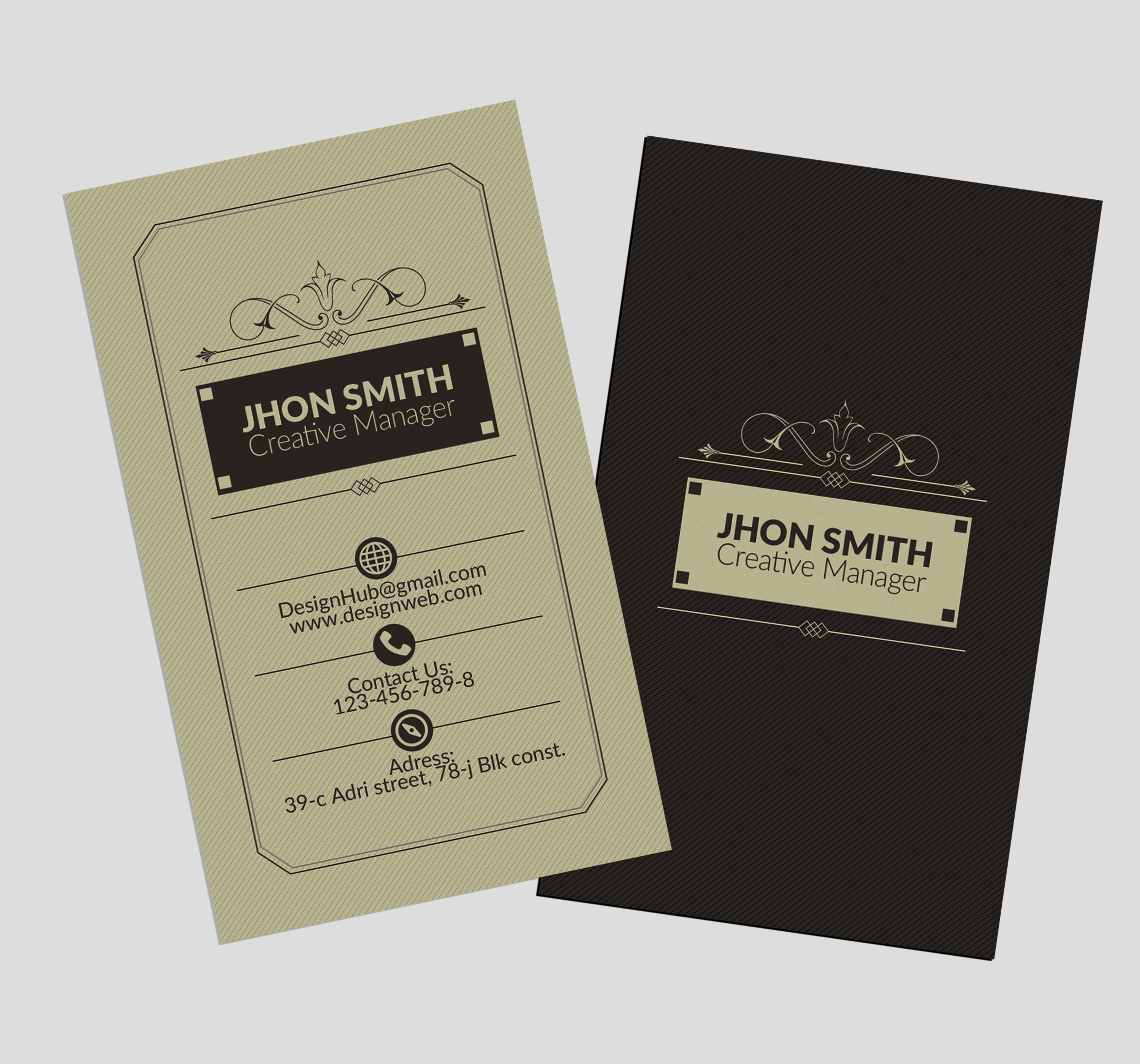 Vertical Retro Business Cards example image 3