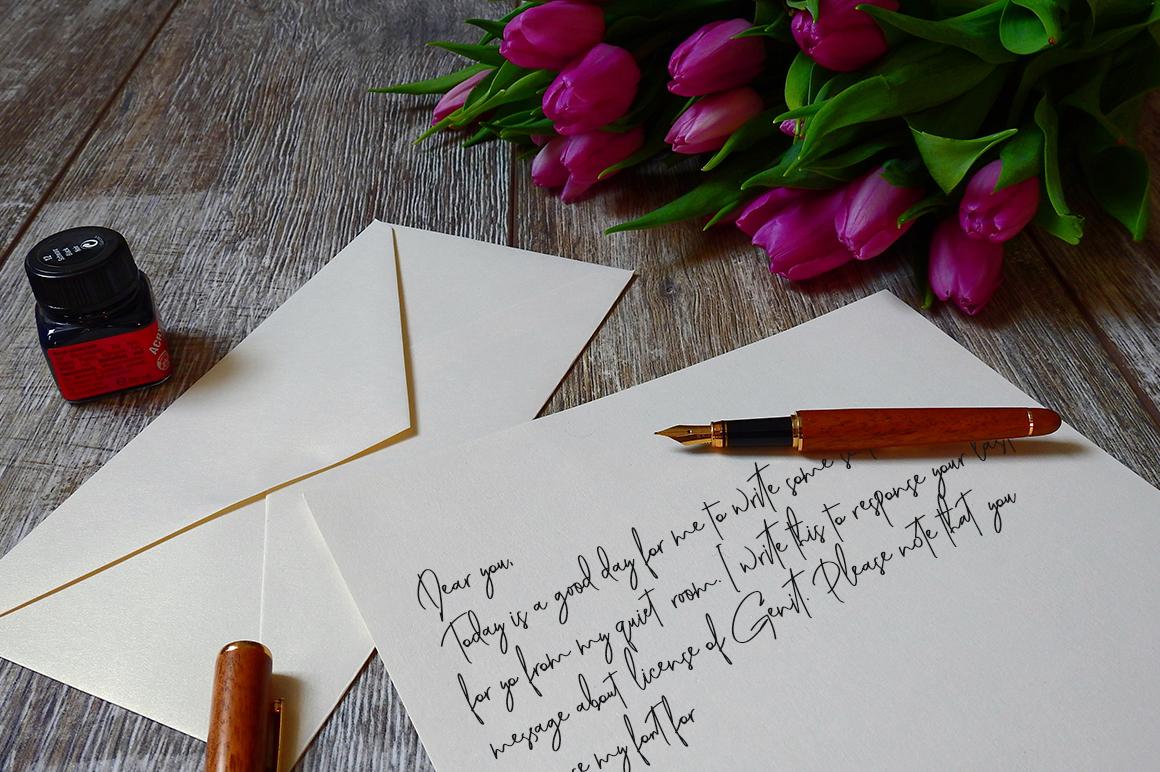 Genit - Classy Handwritten Script Font example image 12