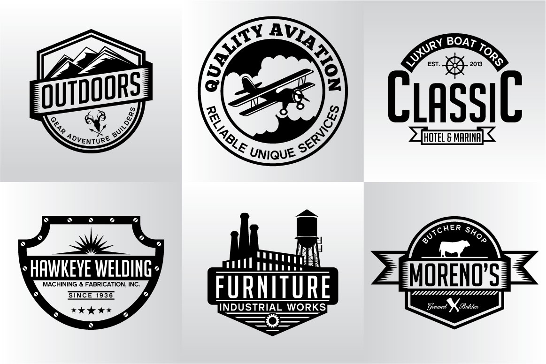 60 Vintage Bundle Logos Labels & Badges example image 19