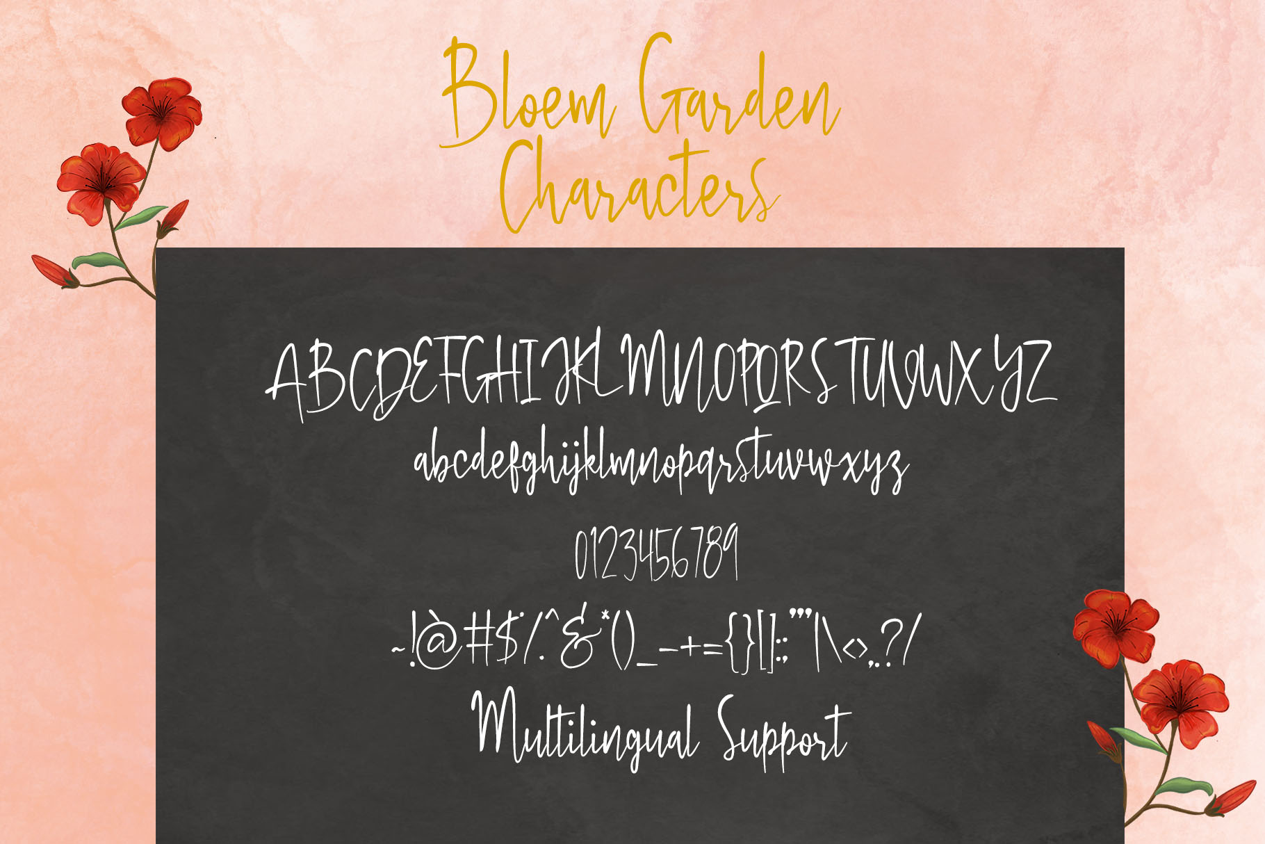 Bloem Garden - Handwritten Font with Watercolour Package example image 14