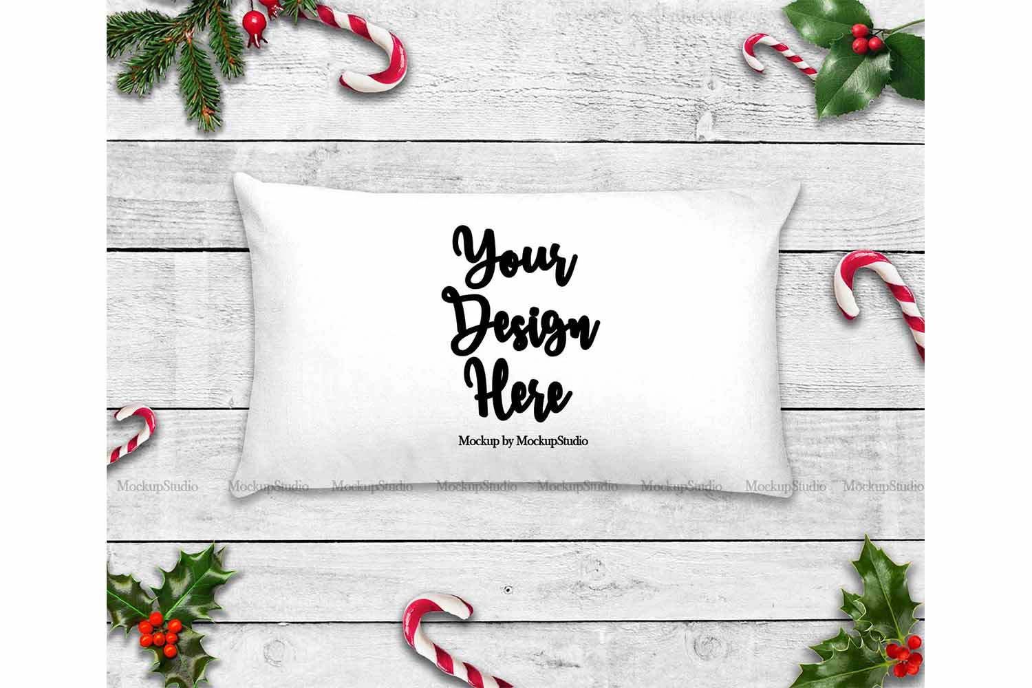Throw Pillow Mockup Bundle 6 Images, Pillow Flat Lay Display example image 6