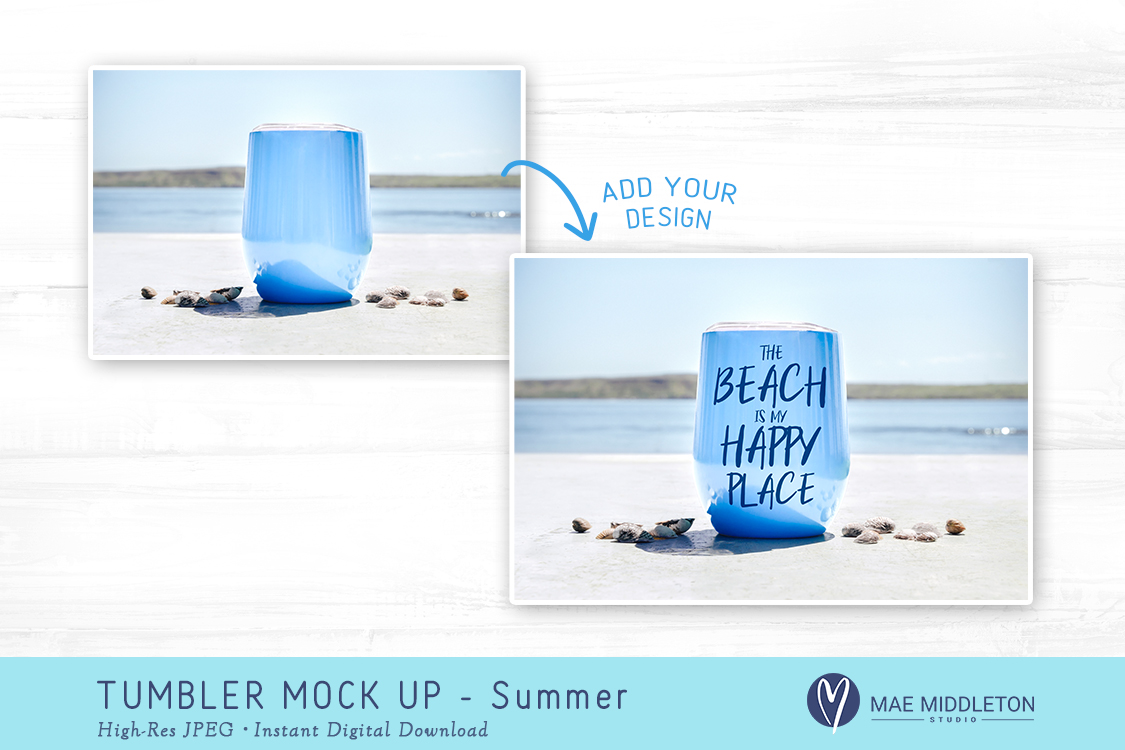 Tumbler Mock up for Summer example image 2