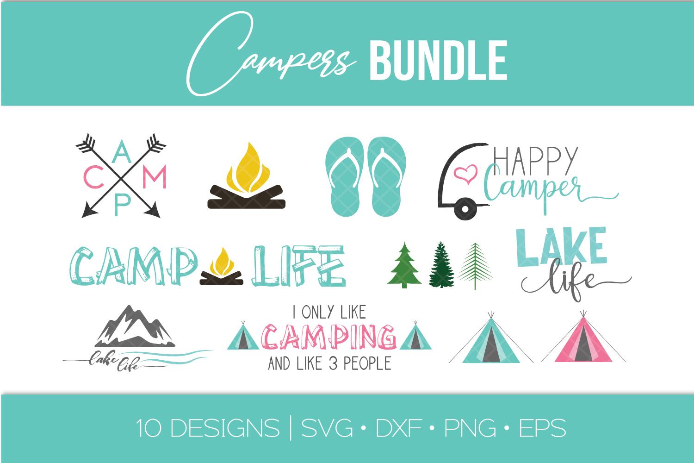 Camping SVG Bundle - Camper - Teepee - Lake Life - Arrows example image 1