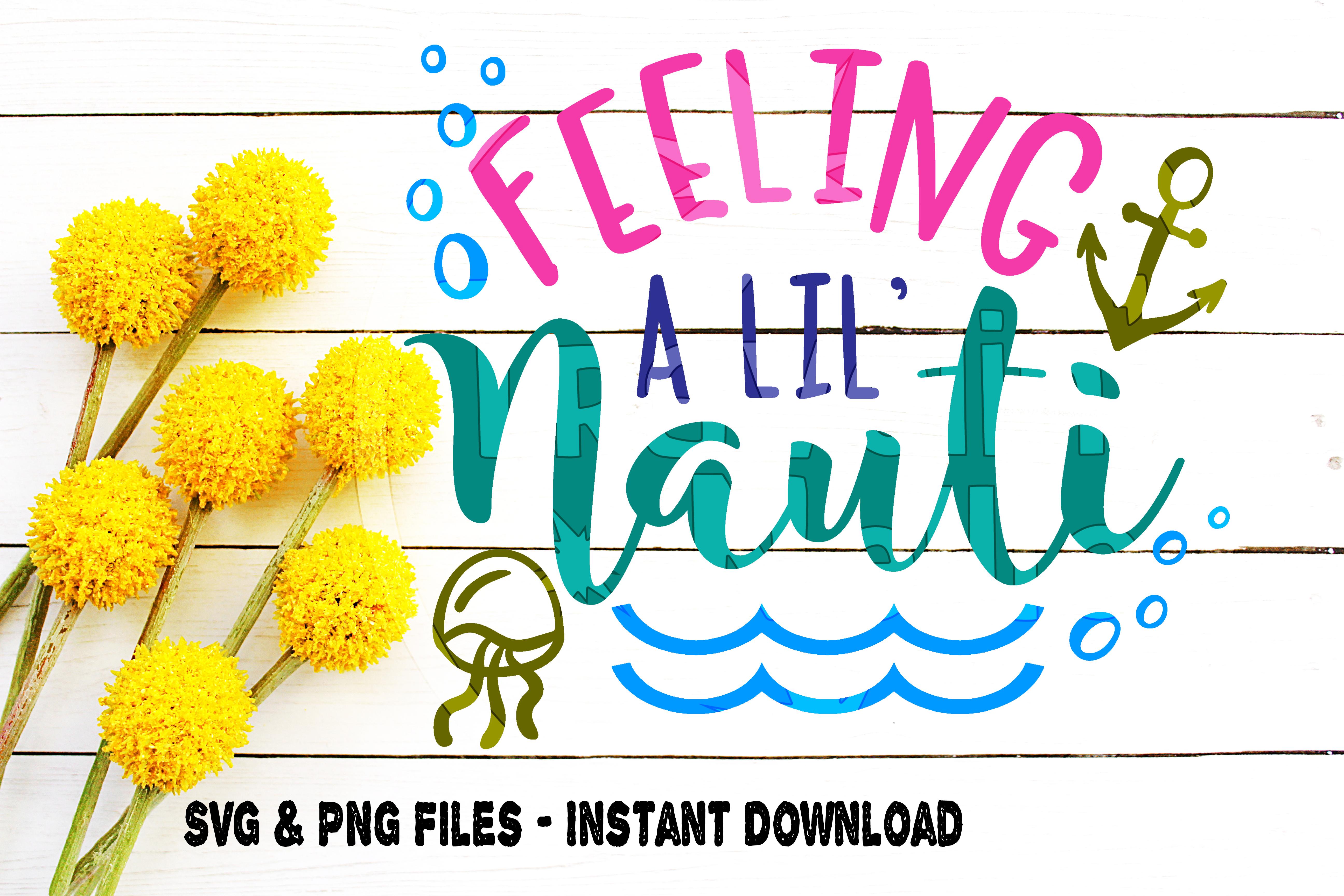 SVG Beach Bundle, 4, Beach Moods svg, Emotions svg, Feeling Nauti svg, Feeling Beachy svg, Feeling Jelly svg, Feeling Salty svg, Cut File example image 4