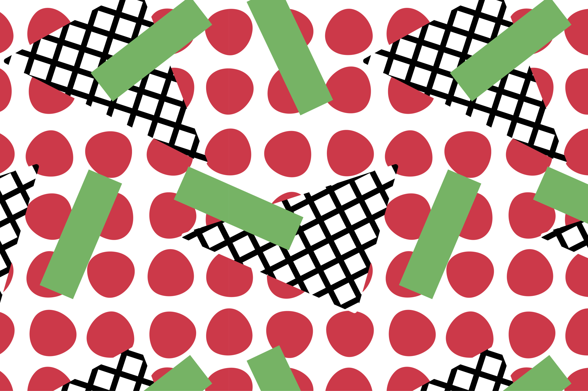 Swatches of retro memphis patterns. example image 4
