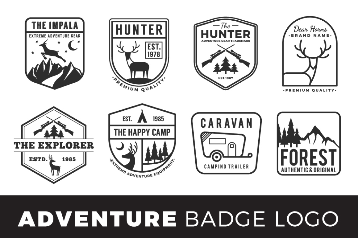 Adventure Badge Logo Template example image 2