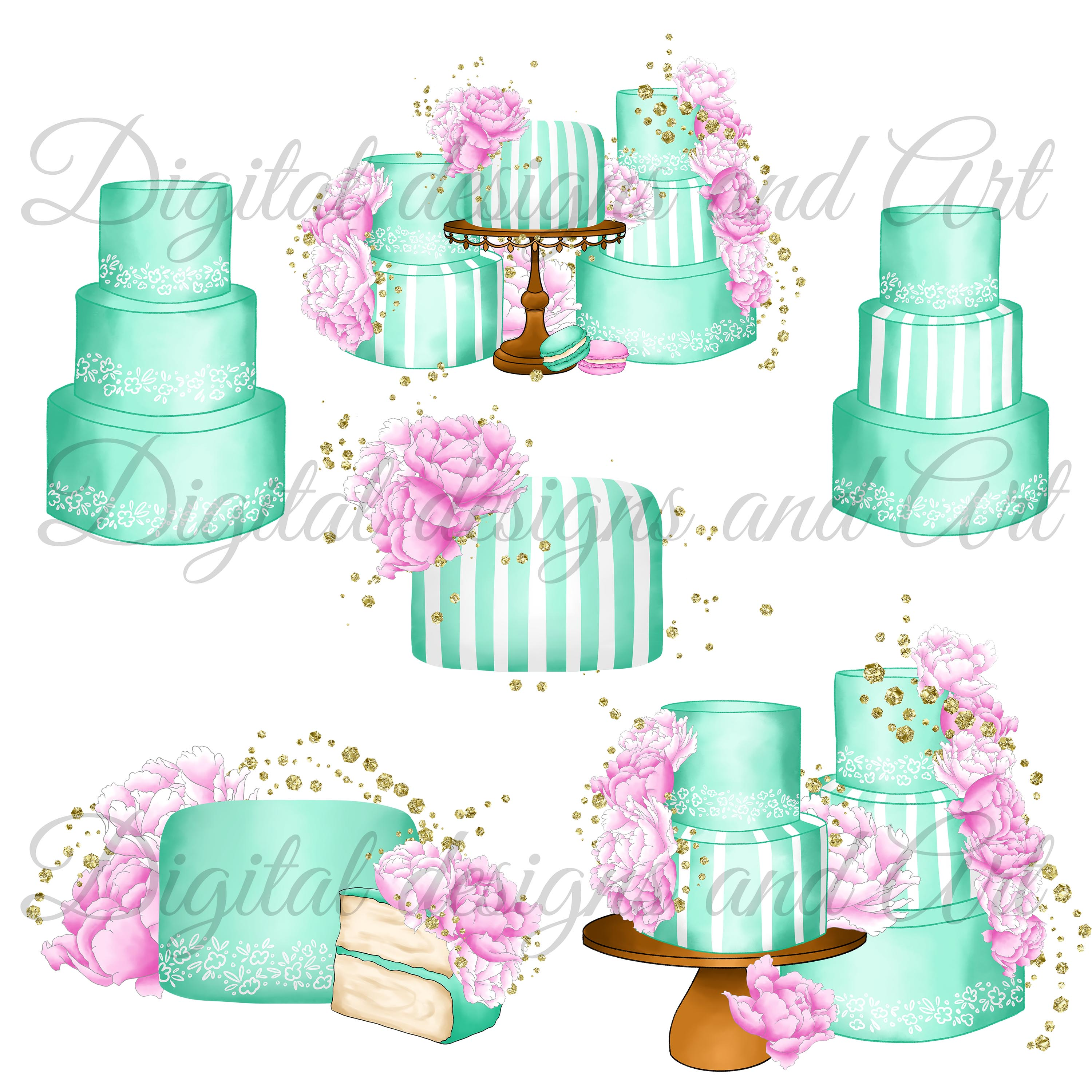 Fashion cakes clipart example image 3