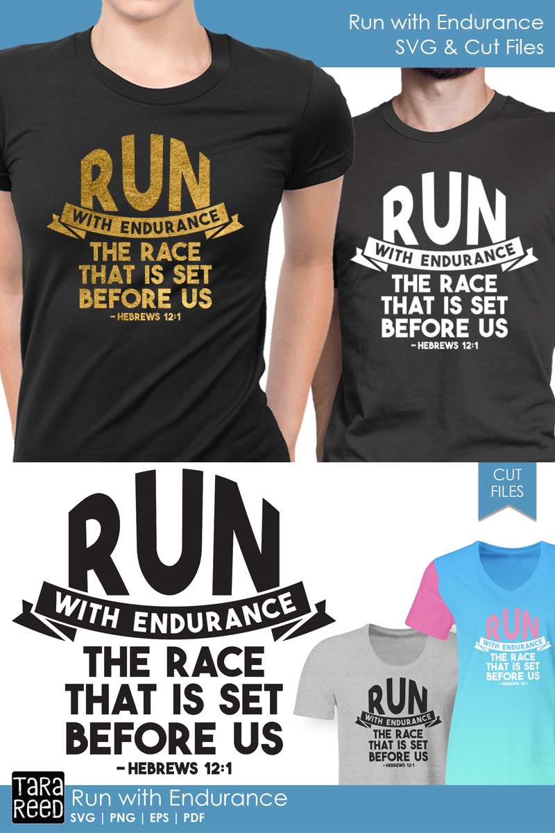 Run with Endurance - Bible Verse SVG and Cut Files example image 2