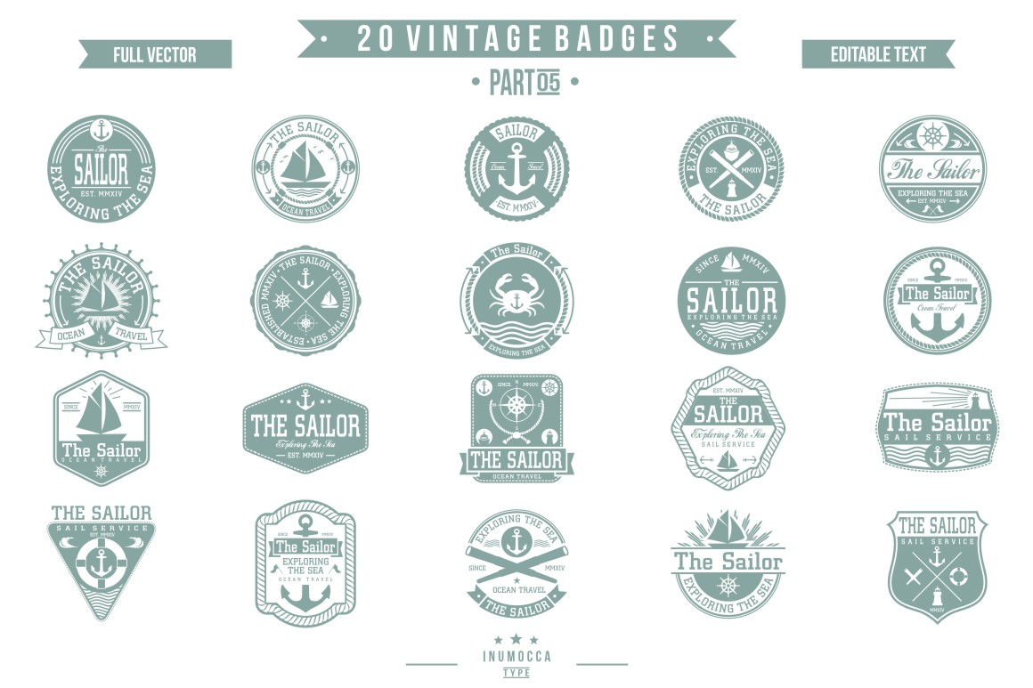 BIG BUNDLE Vintage Badges example image 19
