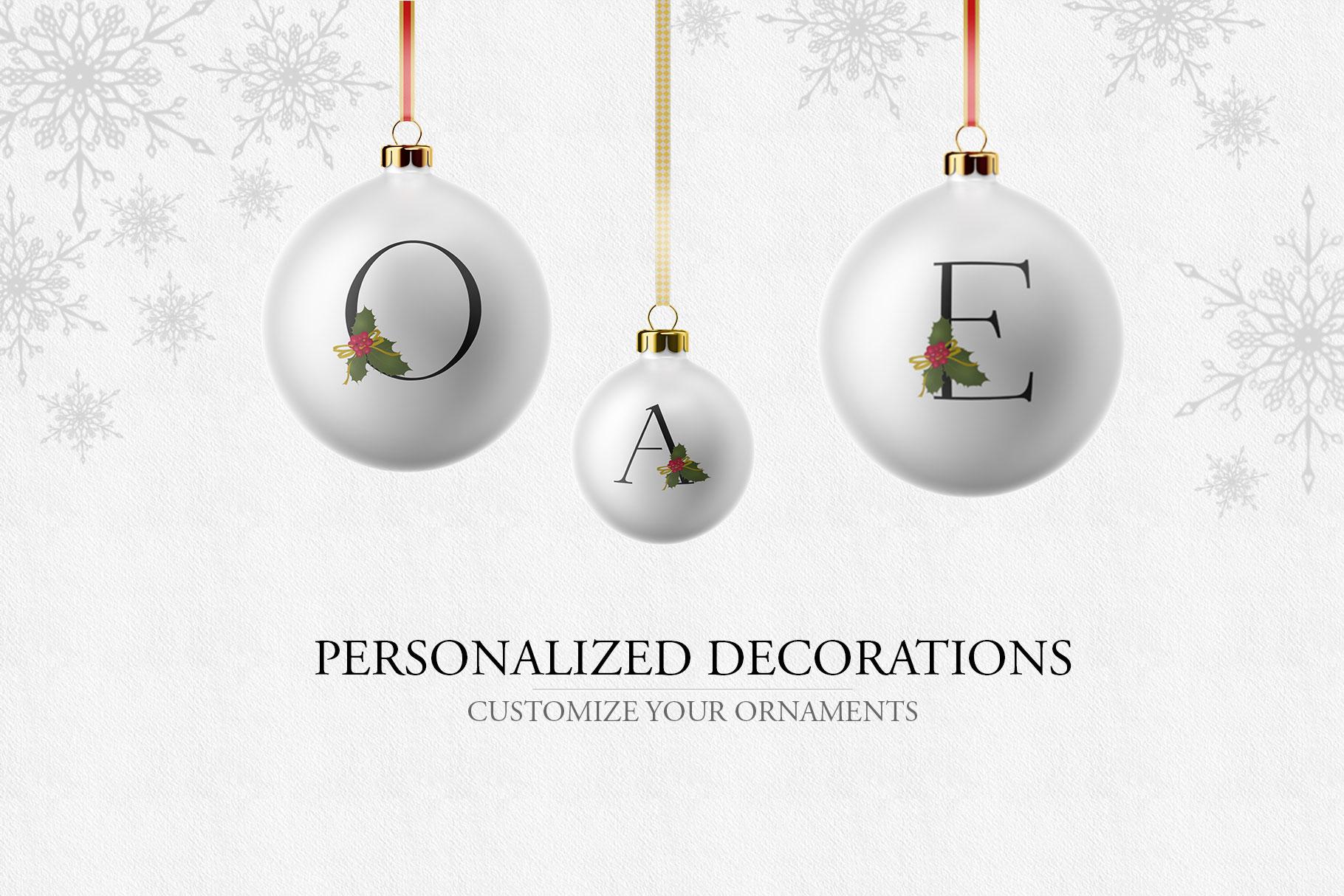 Holiday Alphabet Design Set example image 3