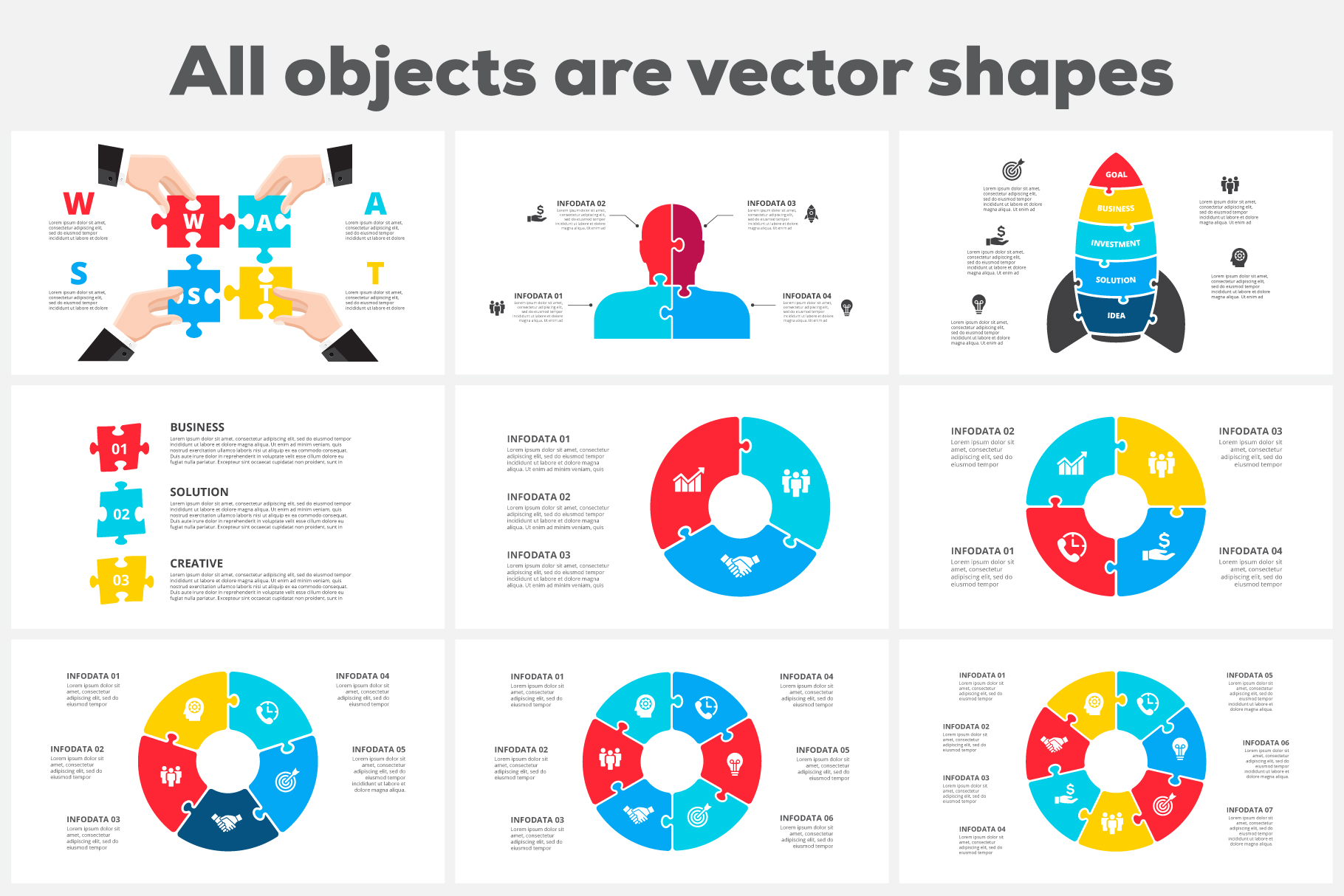 Puzzle Animated Infographics example image 5